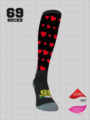 #69socks Q-skin Long Love's Classic Black
