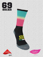 #69socks Q-skin Short Technicolor Marina