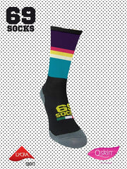 #69socks Q-skin Short Technicolor BlackPurple