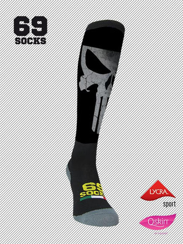 #69socks Q-skin Long Black Punishment