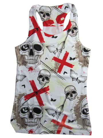 69Tank Top Cross Skull