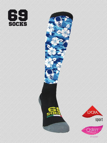 #69socks Q-skin Long #37Caribbean Skull