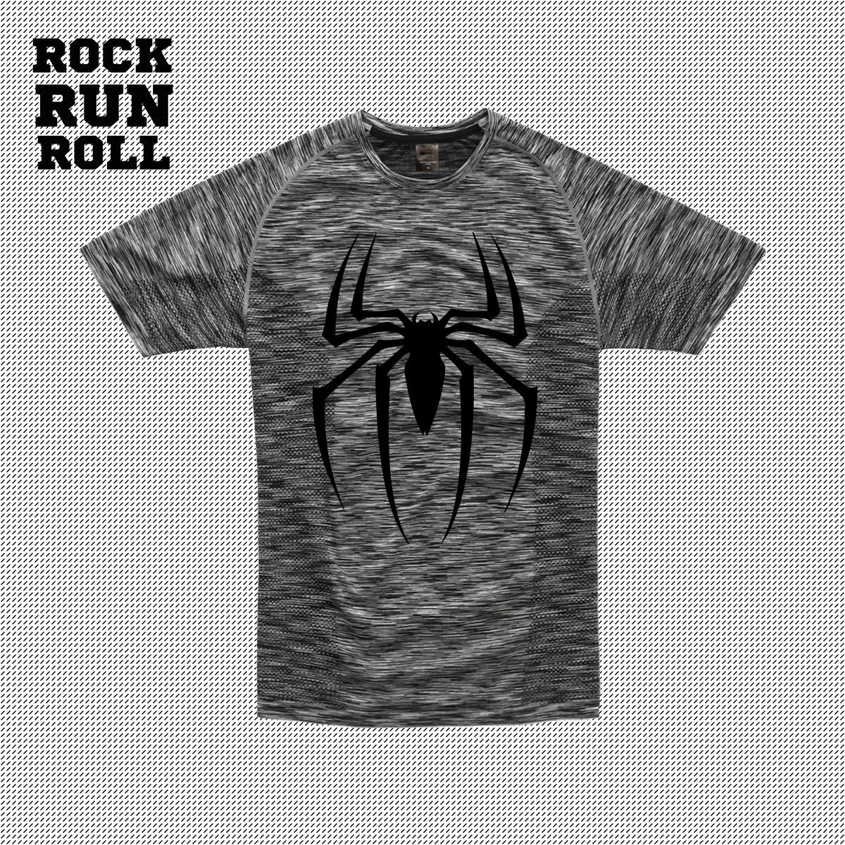 RRR T-Shirt Man Active Dry Spider Black -Uomo
