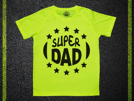 RRR T-Shirt Man Active Dry Yellow Fluo Super Dad