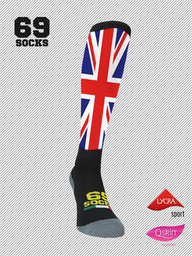 #69socks Q-skin Long Flag UK