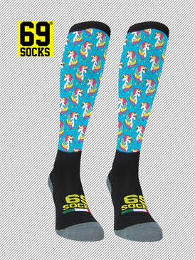 Riding  #69socks Q-skin Long Unicorn Cielo