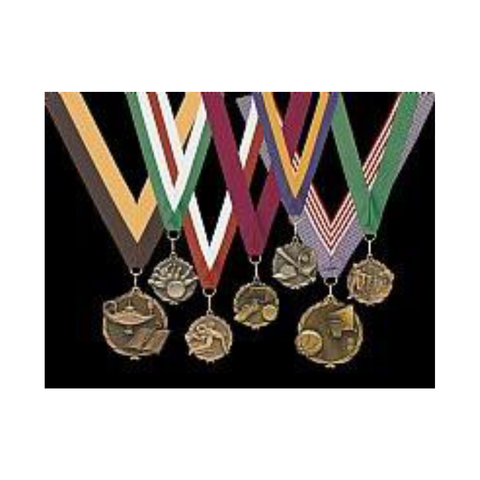 Medals on Neck Ribbons