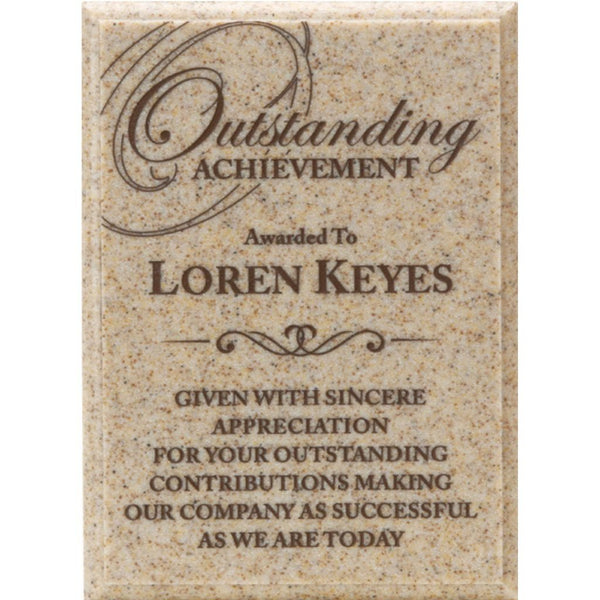 Achievement Award, AcrylaStone-Indoor-Outdoor-Plaque-Carmel