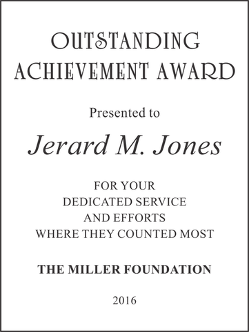 Award Text Example