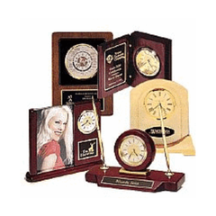 Shop Clocks, Desk Sets, Gavels, and Name Blocks