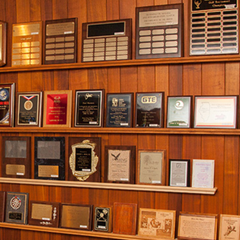 Wall of Custom Plaques