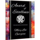 Excellence Award, Watercolor-Series-acrylic-plaque-with-printed-watercolor-pattern-border
