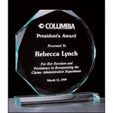 "Octagon Series, 3/4"" thick acrylic award on acrylic base, 3 Sizes"
