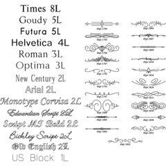 Rotary Engraving Fonts & Designs