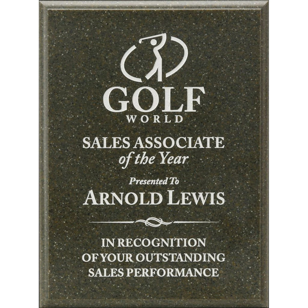 Sales Award, AcrylaStone-Indoor-Outdoor-Plaque-Evergreen