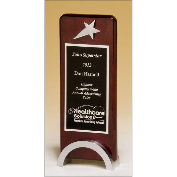 Sales Award, Star_Chrome_Plated_on_Rosewood_Piano_Finish_Award