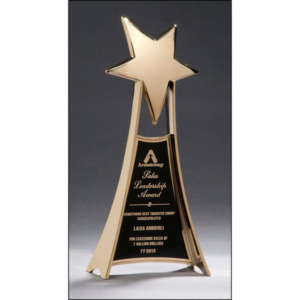 Sales Award, Star_Trophy_with_Gold_Metal_Finish