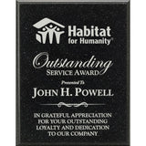 Service Award, AcrylaStone-Indoor-Outdoor-Plaque-Black