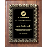 Service Award, Solid-American-Walnut-Plaque-with-Heavy-Die-Cast-Mount