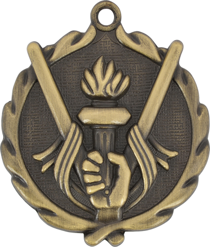 "Victory Wreath Medal, 1 3/4"" in gold"