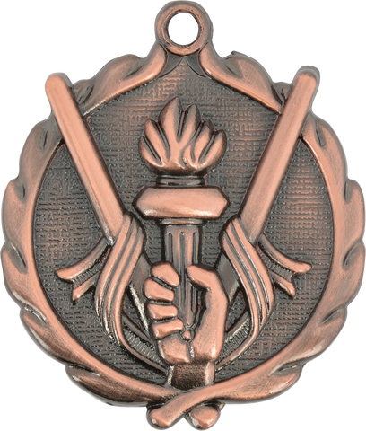 "Victory Wreath Medal, 1 3/4"" in bronze"