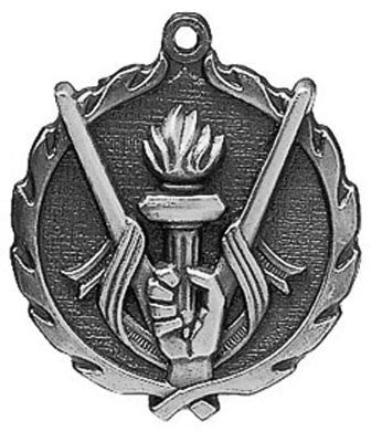 "Victory Wreath Medal, 1 3/4"" in silver"