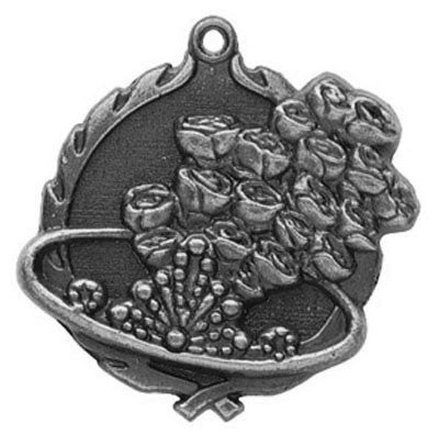 "Beauty Queen Wreath Medal, 1 3/4"" in silver"