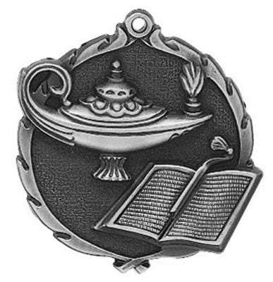 "Knowledge Wreath Medal, 2 1/2"" in silver"