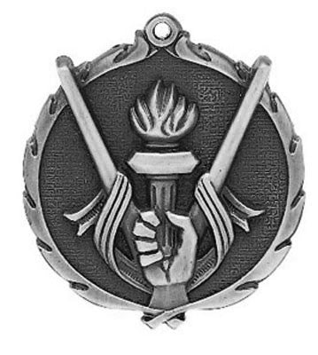 "Victory Wreath Medal, 2 1/2"" in silver"