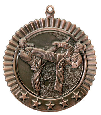 "Karate, Female, Star Medal, 2 3/4"" in bronze"