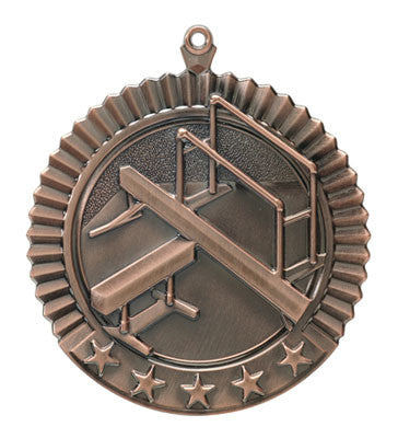"Gymnastics, Female, Star Medal, 2 3/4"" in bronze"
