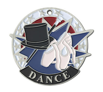 "Dance USA Sport Medal, 2"" in silver"