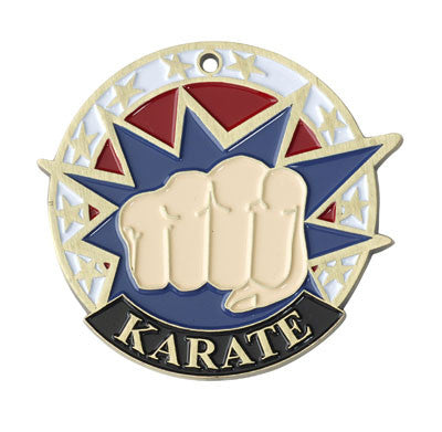 "Karate USA Sport Medal, 2"" in gold"