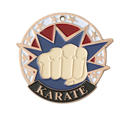 "Karate USA Sport Medal, 2"" in bronze"