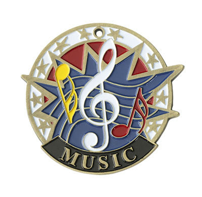 "Music USA Sport Medal, 2"" in gold"