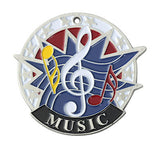 "Music USA Sport Medal, 2"" in silver"