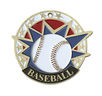"Baseball USA Sport Medal, 2"" in gold"