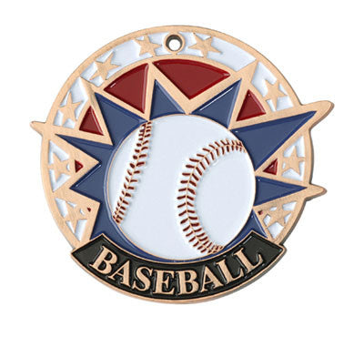 "Baseball USA Sport Medal, 2"" in bronze"
