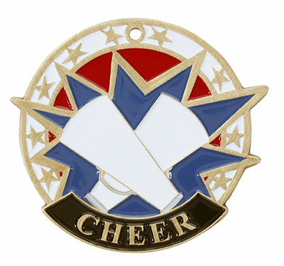 "Cheer USA Sport Medal, 2"" in gold"
