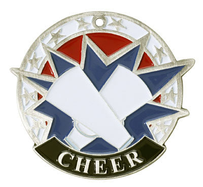 "Cheer USA Sport Medal, 2"" in silver"