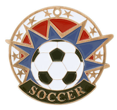 "Soccer USA Sport Medal, 2"" in bronze"