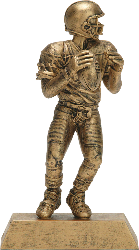 Football Quarterback, Male, Figure Resin in Gold