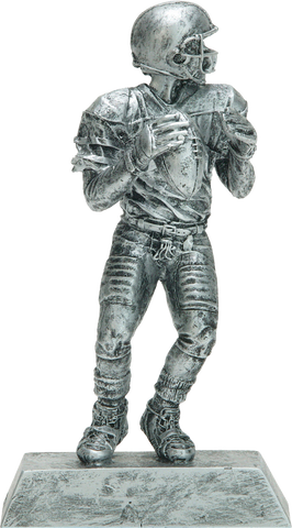 Football Quarterback, Male, Figure Resin in Silver
