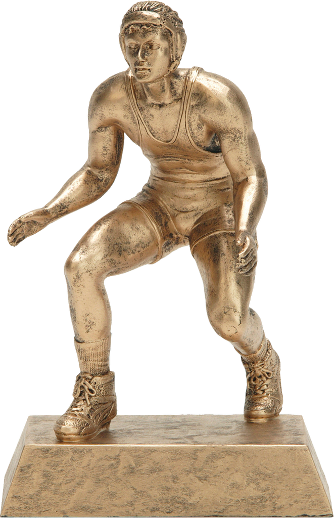 Wrestling, Male, Resin Figure in Gold