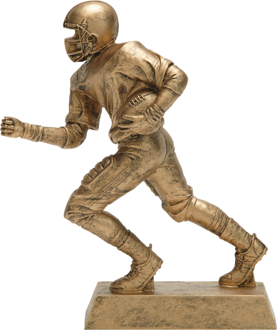 Football Runner, Male, Figure Resin in Gold