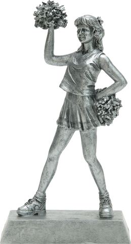Cheerleader, Female, Figure Resin in Silver