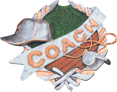 Coach Resin Plaque Mount