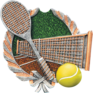 Tennis Resin Plaque Mount