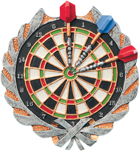 Darts Resin Plaque Mount