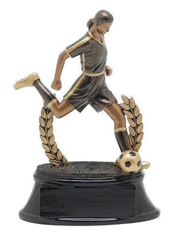 Soccer, Female, Power Resin, Medium